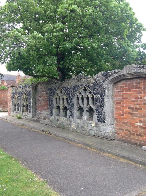 back wall of masonic lodge