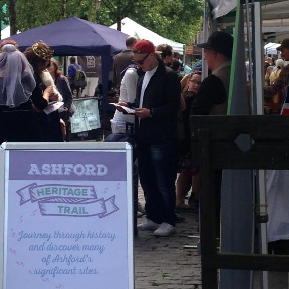Ashford heritage trail queue