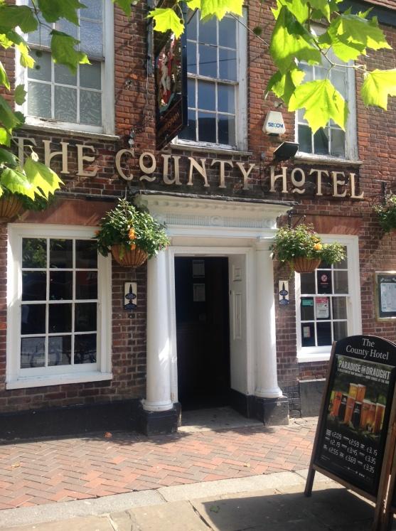 County Hotel door