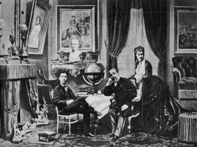 emperor-napoleon-iii-with-empress-eugenie-and-prince-imperial-at-camden-place-chislehurst-in-1872