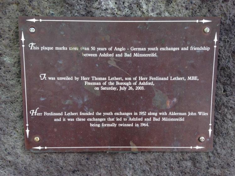friendship stone plaque