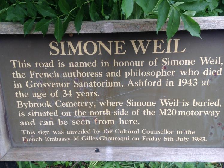 Simone Weill plaque
